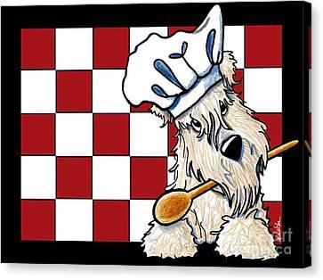 Wheaten Terrier Chef Canvas Print