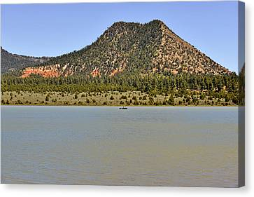 Scenic Drive Canvas Print - Wheatfields Lake - Chuska Mountains by Christine Till