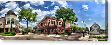 Wheaton Front Street Panorama Canvas Print by Christopher Arndt