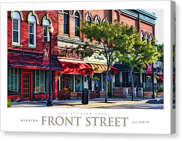 Wheaton Front Street Store Fronts Poster Canvas Print by Christopher Arndt