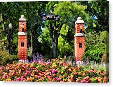 Wheaton Memorial Park Canvas Print by Christopher Arndt
