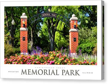 Wheaton Memorial Park Poster Canvas Print by Christopher Arndt