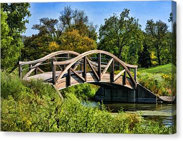 Wheaton Northside Park Bridge Canvas Print by Christopher Arndt