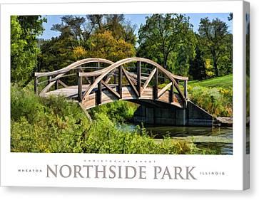 Wheaton Northside Park Bridge Poster Canvas Print by Christopher Arndt