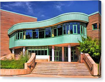 Library Canvas Print - Wheaton Public Library by Christopher Arndt