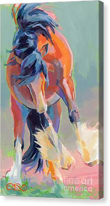 Bay Horse Canvas Print - Whee by Kimberly Santini