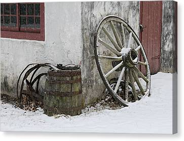 Wheel Barrel Canvas Print by Don Schroder