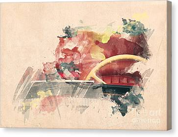 Wheel II. Canvas Print by Martin Dzurjanik