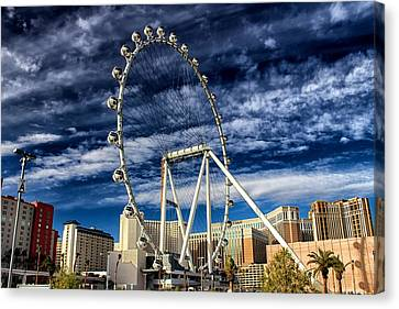 Wheel In The Sky Las Vegas Canvas Print