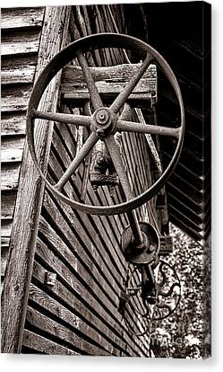 Wheel Of Labor  Canvas Print by Olivier Le Queinec