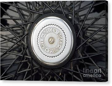 Wheel Of 1930 Rolls Royce 20 25 Canvas Print by George Atsametakis