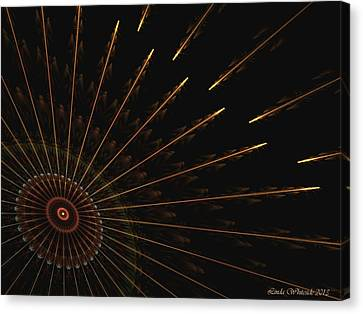 Canvas Print featuring the digital art Wheel Of Time by Linda Whiteside