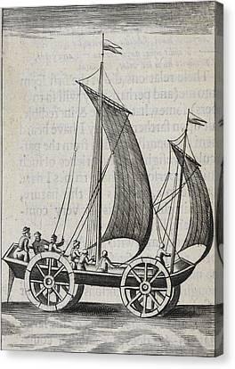 Wheeled Sail Boat Canvas Print by British Library
