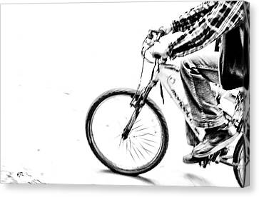 Canvas Print - Wheelin by Karol Livote