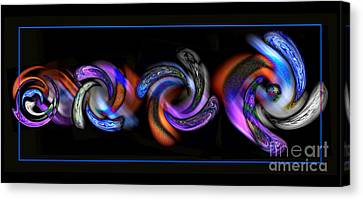 Wheels In Motion Canvas Print by Sue Stefanowicz