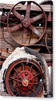 Antique Automobiles Canvas Print - Wheels Of Misfortune by Joe Kozlowski