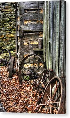 Wheels Of Time Canvas Print by Benanne Stiens