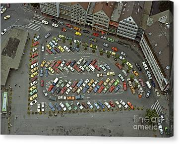 When Cars Were Colorful 1980s Canvas Print by David Davies