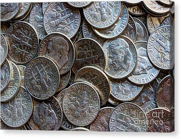 When Dimes Were Made Of Silver Canvas Print