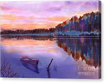 When Evening Falls  Canvas Print by Joan A Hamilton