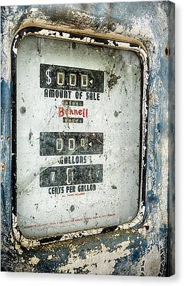 When Gas Made Cents Canvas Print by Caitlyn  Grasso