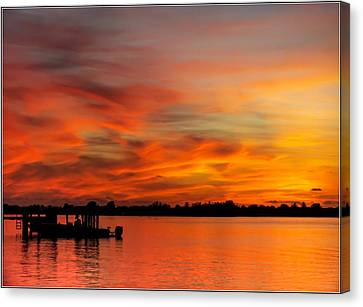 When God Paints Canvas Print by Karen Wiles