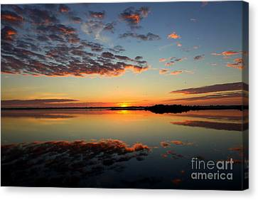 When Heaven Blankets The Earth Canvas Print by Karen Wiles