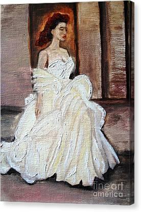 When Lovely Women II Canvas Print by Helena Bebirian
