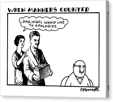 When Manners Counted 'dad Canvas Print by Charles Barsotti