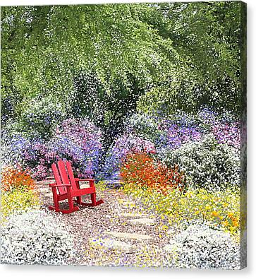 Rocking Chairs Canvas Print - When May Comes by Kume Bryant
