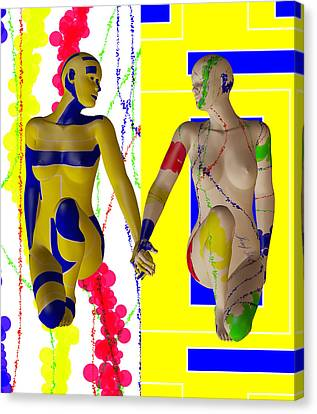 When Modern Met Abstract  Canvas Print by Sir Josef - Social Critic -  Maha Art