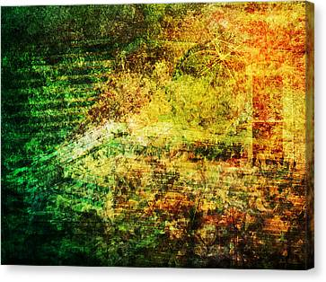 Canvas Print featuring the mixed media When Past And Present Intersect #1 by Sandy MacGowan
