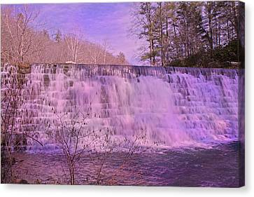 When Pink Falls Canvas Print