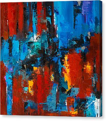 Designer Colour Canvas Print - When Red And Blue Meet by Elise Palmigiani