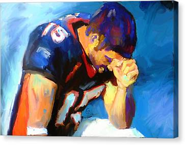 Tebow Canvas Print - When Tebow Was A Bronco by G Cannon