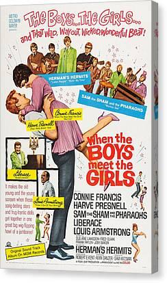 When The Boys Meet The Girls, Top Canvas Print by Everett