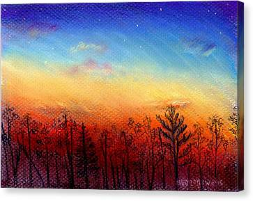 When The Heavens Sing Canvas Print by Shana Rowe Jackson