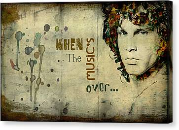 When The Music's Over... Canvas Print by Marie  Gale