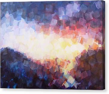 When The Sun Falls To The Sea Canvas Print by Charles Smith