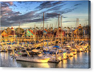 When The Sun Goes Down Canvas Print by Heidi Smith