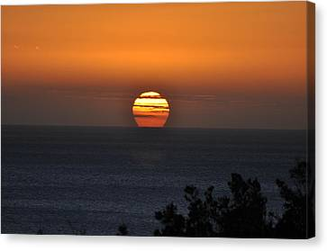 Canvas Print featuring the photograph When The Sun Sets by Sabine Edrissi