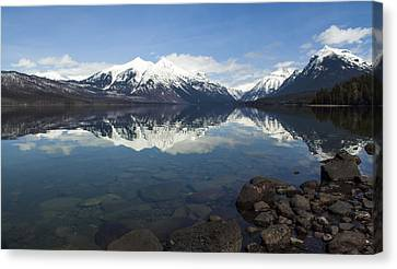 When The Sun Shines On Glacier National Park Canvas Print by Fran Riley