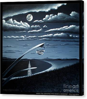 Canvas Print featuring the painting When The Universe Fits Inside A Dewdrop by Ric Nagualero