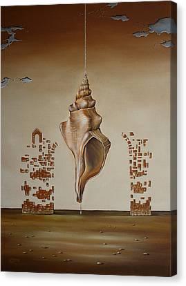 When The Water's Gone Canvas Print by Svetoslav Stoyanov