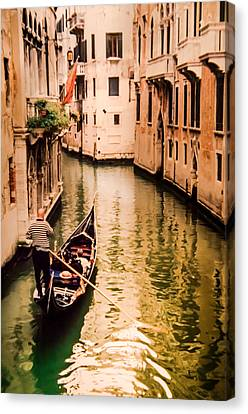 Gondola Ride Canvas Print - When Two Become One by Karen Wiles