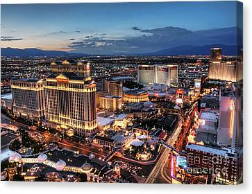 When Vegas Comes To Life Canvas Print by Eddie Yerkish