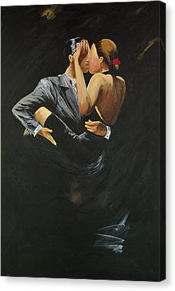 Canvas Print featuring the painting When We Tango by Sheri  Chakamian