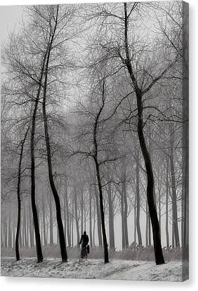 When Winter Knocks On The Door ... Canvas Print