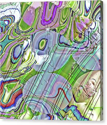 Canvas Print featuring the digital art When Worlds Collide by Richard Thomas