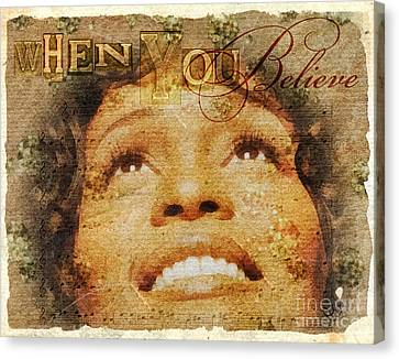 Singing Canvas Print - When You Believe by Mo T